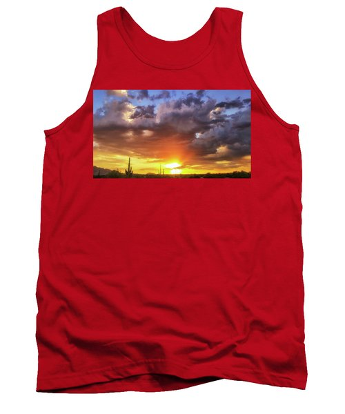 Monsoon Sunset Tank Top by Anthony Citro