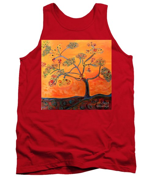 Orange Flamboyan Tank Top
