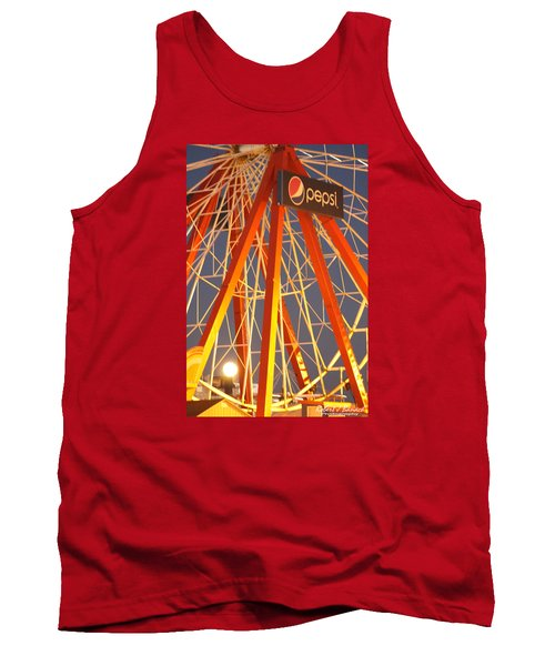 Moon And The Ferris Wheel Tank Top by Robert Banach