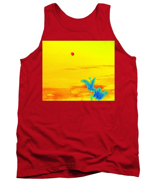 Moon And Two Palms Tank Top