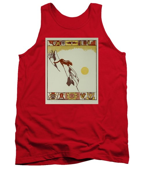 Moon Of Red Chokecherries Tank Top by Dawn Senior-Trask