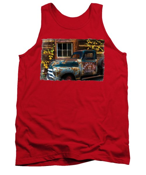Moonshine Express Bordered Tank Top
