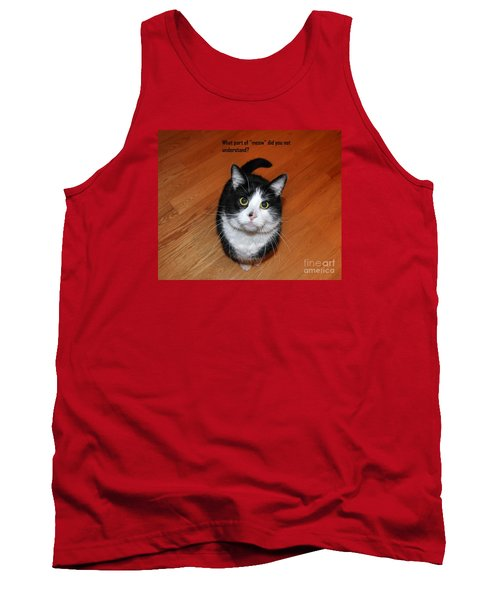 More Words From  Teddy The Ninja Cat Tank Top