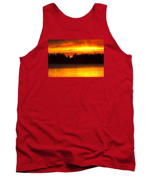 Tank Top featuring the photograph Morning Fire by Aaron Whittemore