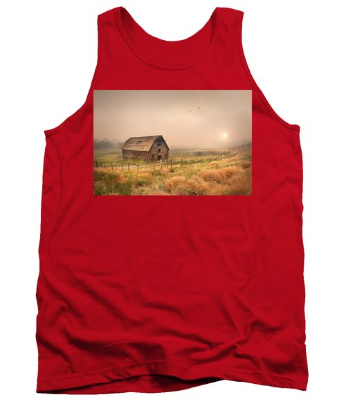 Tank Top featuring the photograph Morning Flight by John Poon