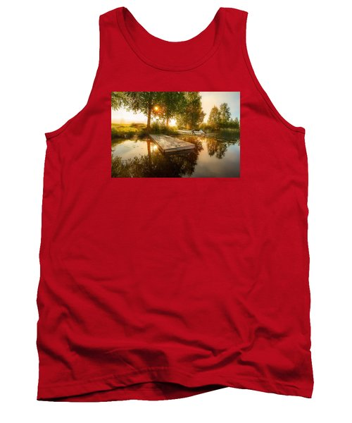Tank Top featuring the photograph Morning Light by Rose-Maries Pictures