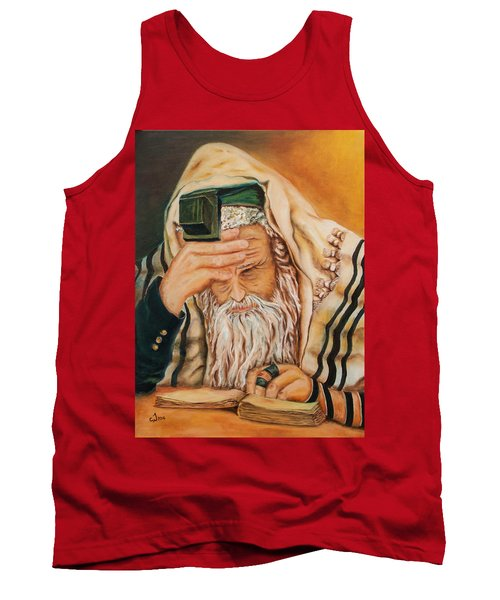 Tank Top featuring the painting Morning Prayer by Itzhak Richter
