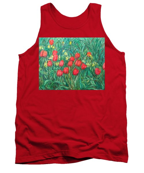 Tank Top featuring the painting Mostly Tulips by Kendall Kessler