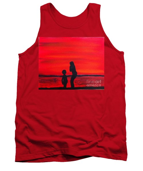 Mother And Child Tank Top by Rod Jellison