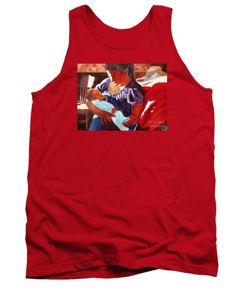 Mother And Newborn Child Tank Top by Kathy Braud