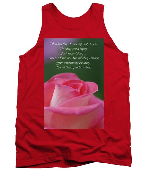 Tank Top featuring the photograph Mother's Day Card 3 by Michael Cummings