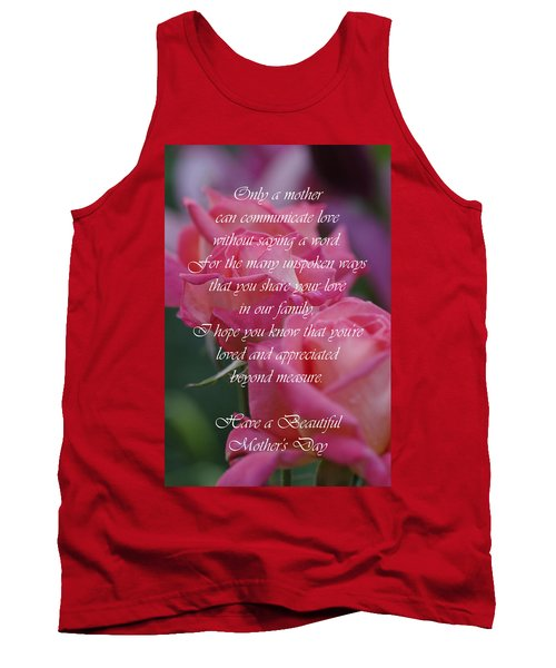 Tank Top featuring the photograph Mother's Day Card 6 by Michael Cummings