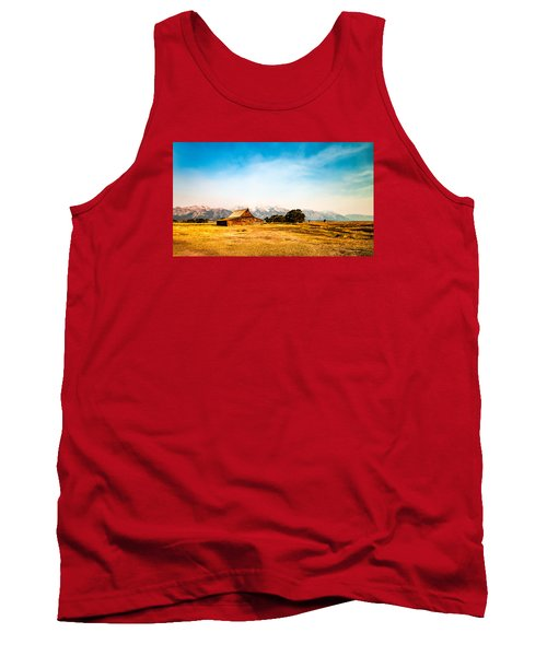 Tank Top featuring the photograph Moulton Barn by Cathy Donohoue