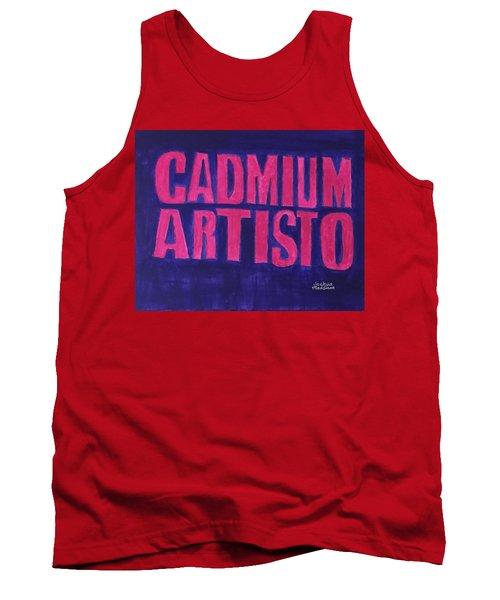 Movie Logo Cadmium Artisto Tank Top by Joshua Maddison