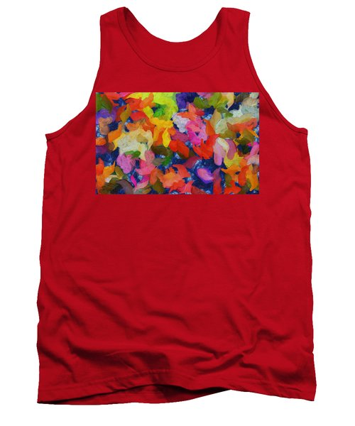 Mr Autumn Meets  Lady Spring - Painting - Wet Paint  Tank Top