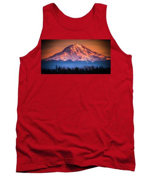Mt. Rainier Sunset Tank Top