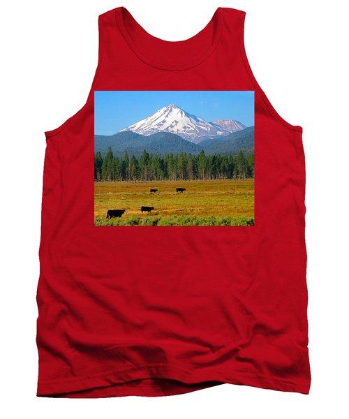 Mt. Shasta Morning Tank Top by Betty Buller Whitehead