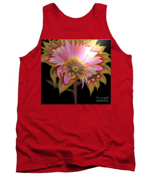 Multi Color Daisy Tank Top by Belinda Threeths