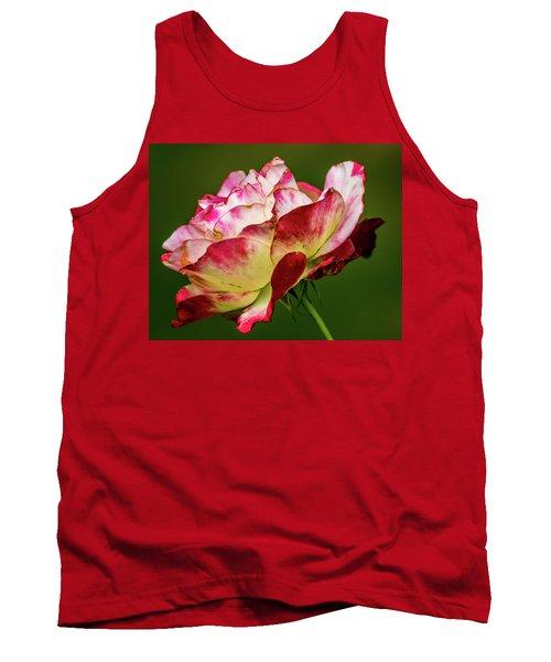 Multi-colored Rose Tank Top