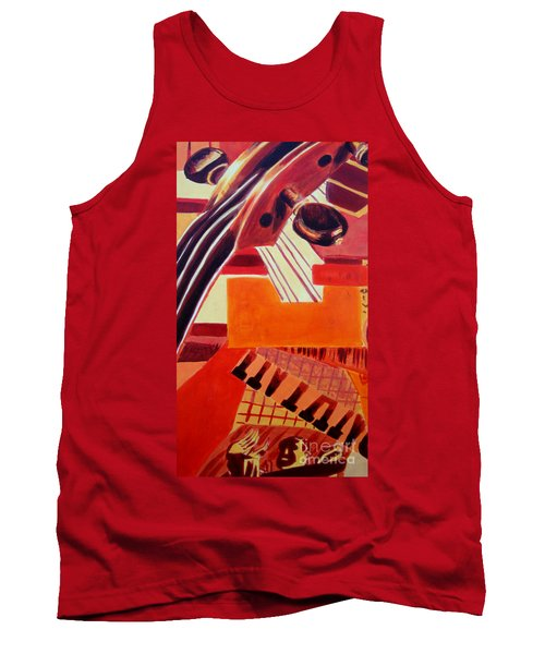 Tank Top featuring the painting Music by Maria Langgle