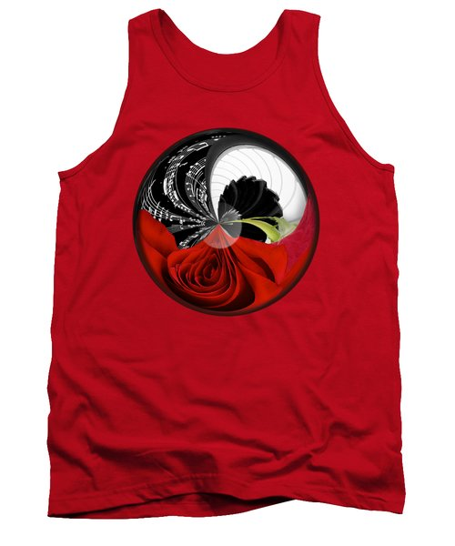 Tank Top featuring the photograph Music Orbit by Phyllis Denton