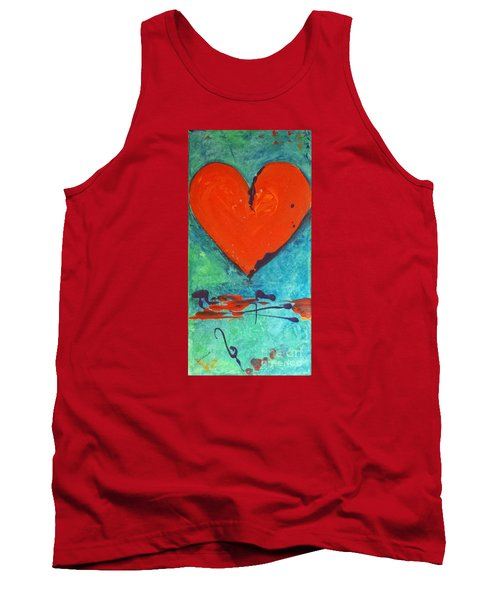 Tank Top featuring the painting Musical Heart by Diana Bursztein