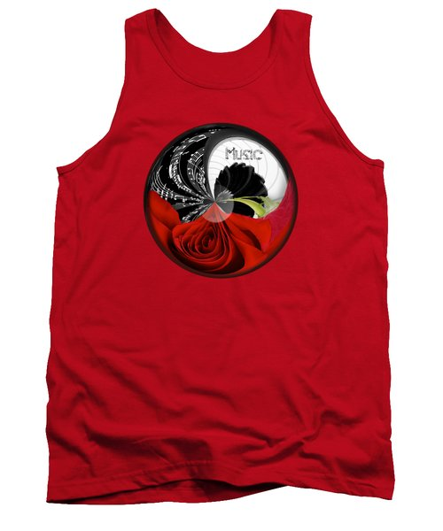 Tank Top featuring the photograph Musical Orb by Phyllis Denton