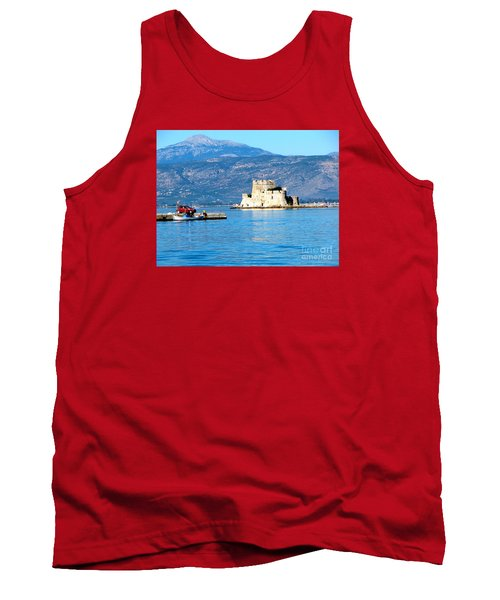 Tank Top featuring the photograph Naflion Greece Harbor Fortress by Phyllis Kaltenbach