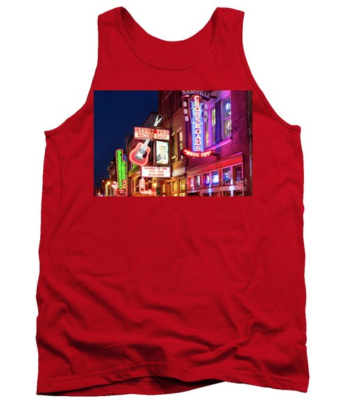 Tank Top featuring the photograph Nashville Signs by Brian Jannsen