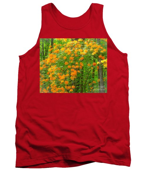 Tank Top featuring the photograph Natural Wild Azaleas  by Rand Herron