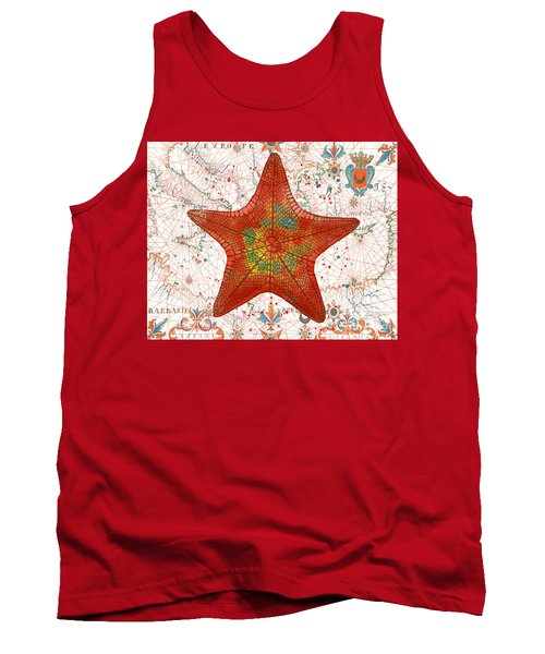 Tank Top featuring the painting Nautical Treasures-k by Jean Plout