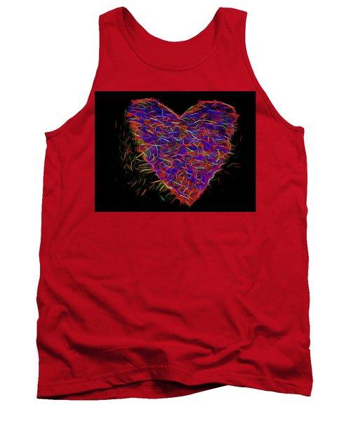 Neon Heart Tank Top