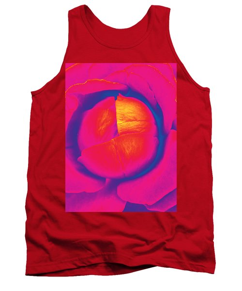Neon Lettuce Rose Tank Top by Samantha Thome