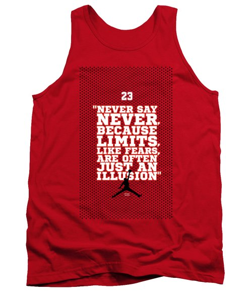 Never Say Never Gym Motivational Quotes Poster Tank Top