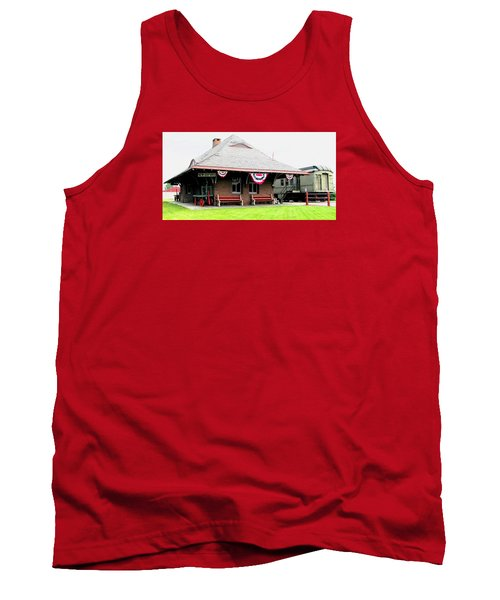 New Oxford Pennsylvania Train Station Tank Top by Angela Davies