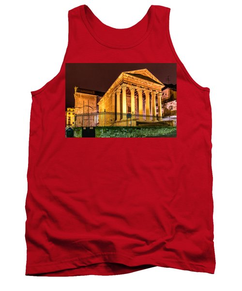 Night At The Roman Temple Tank Top by Randy Scherkenbach