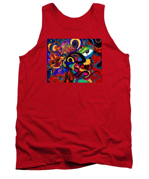 Tank Top featuring the painting Tears Of Blood by Marina Petro