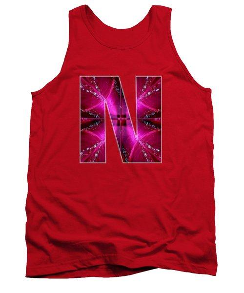 Nnn Nn N  Alpha Art On Shirts Alphabets Initials   Shirts Jersey T-shirts V-neck By Navinjoshi Tank Top by Navin Joshi