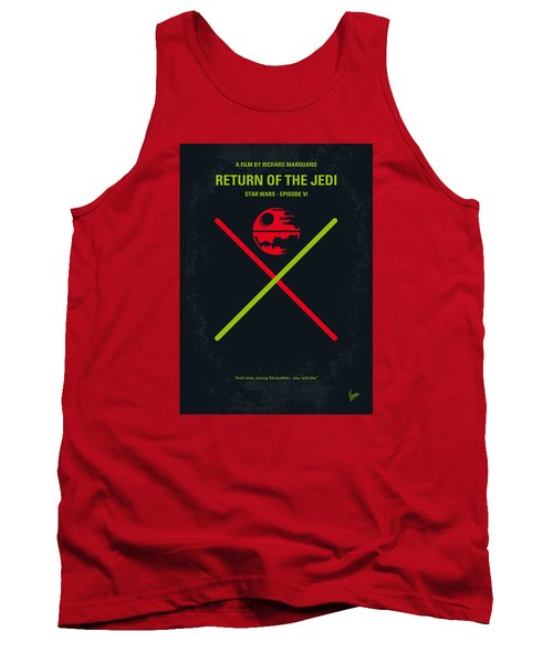 No156 My Star Wars Episode Vi Return Of The Jedi Minimal Movie Poster Tank Top by Chungkong Art