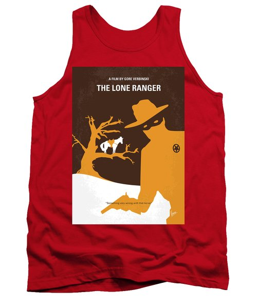 No202 My The Lone Ranger Minimal Movie Poster Tank Top by Chungkong Art