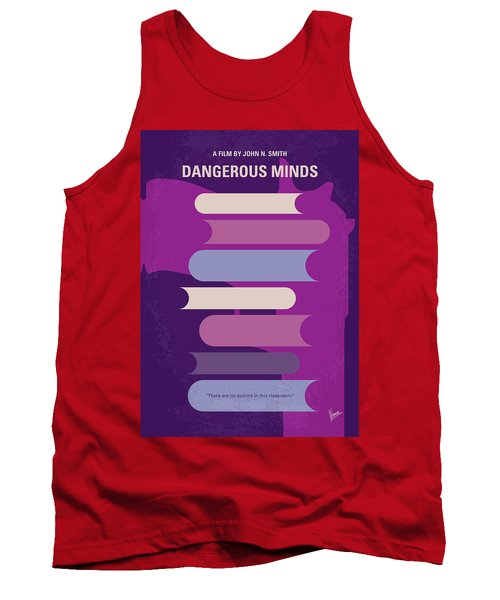 No655 My Dangerous Minds Minimal Movie Poster Tank Top