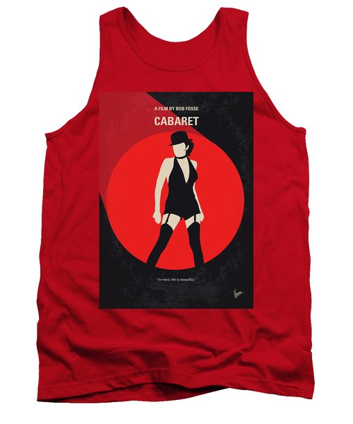 Tank Top featuring the digital art No742 My Cabaret Minimal Movie Poster by Chungkong Art