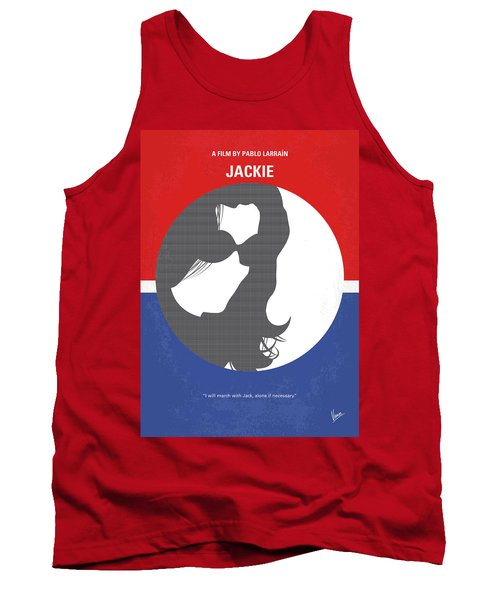 Tank Top featuring the digital art No755 My Jackie Minimal Movie Poster by Chungkong Art