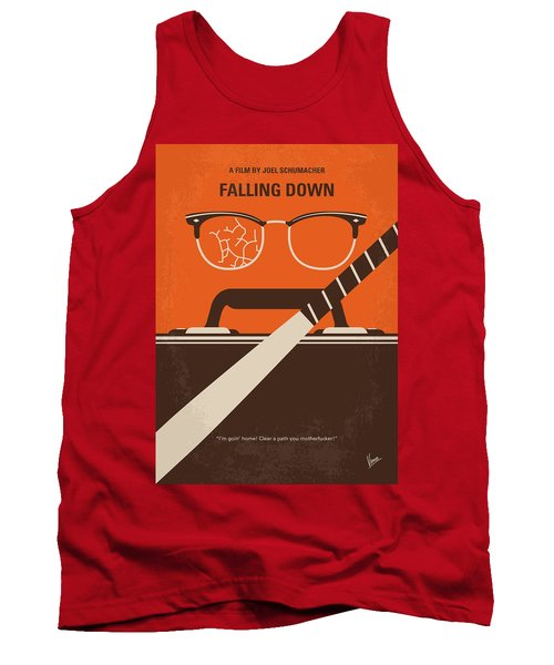 Tank Top featuring the digital art No768 My Falling Down Minimal Movie Poster by Chungkong Art