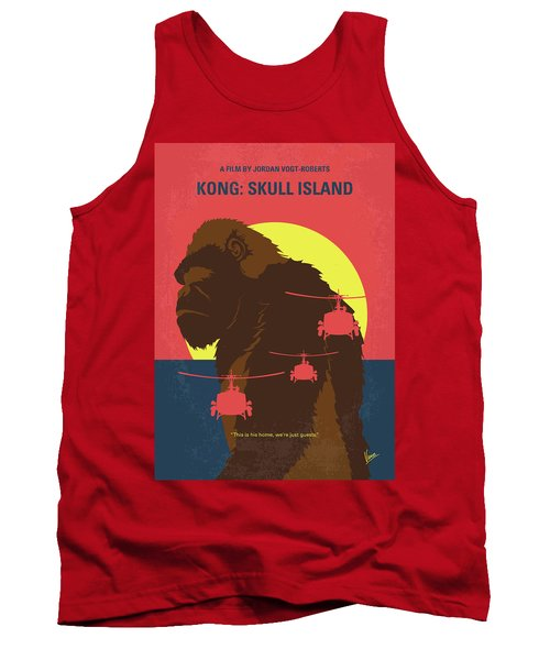 No799 My Skull Island Minimal Movie Poster Tank Top