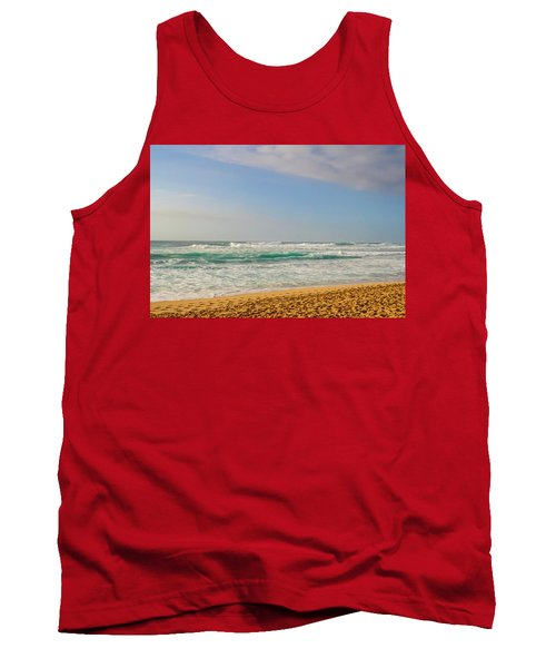 North Shore Waves In The Late Afternoon Sun Tank Top