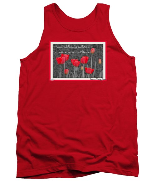 Tank Top featuring the digital art Nurtures Strength by Holley Jacobs