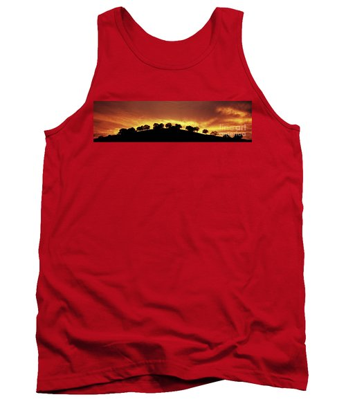 Tank Top featuring the photograph Oaks On Hill At Sunset by Jim and Emily Bush