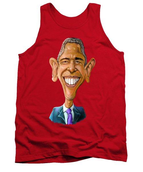 Obama Caricature Tank Top