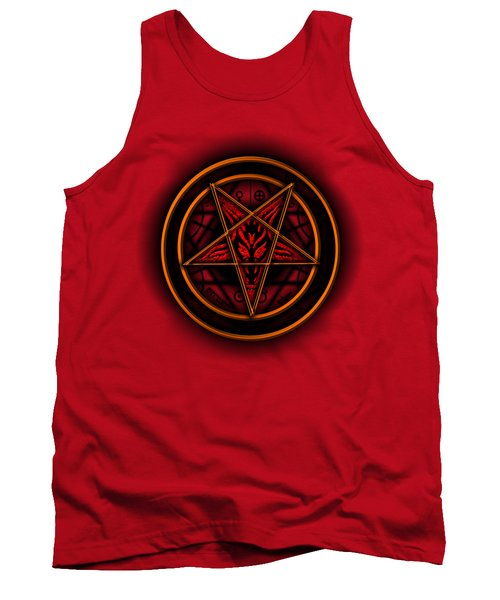 Occult Magick Symbol On Red By Pierre Blanchard Tank Top by Pierre Blanchard